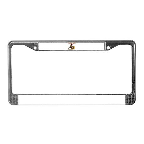 Wild Barrel cowgirls License Plate Frame
