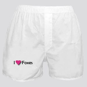 I LUV FOXES Boxer Shorts