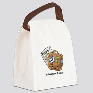 Adventure Awaits Travel Canvas Lunch Bag