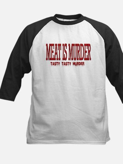 MEAT IS MURDER... Kids Baseball Jersey