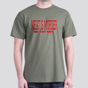 MEAT IS MURDER... Dark T-Shirt