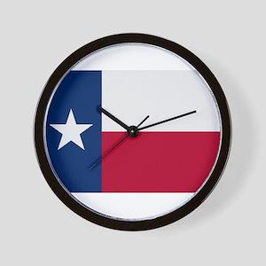 Beloved Texas Flag Modern Sty Wall Clock