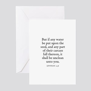 LEVITICUS  11:38 Greeting Cards (Pk of 10)
