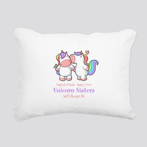 Cute Unicorn Sisters Quote Rectangular Canvas Pill