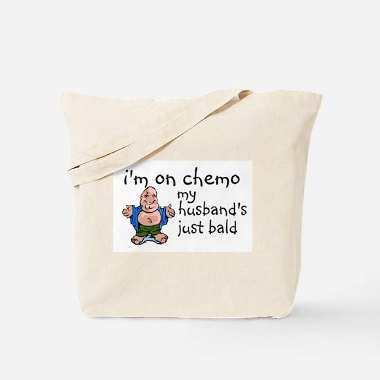 Husband's bald Tote Bag