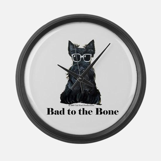 Scottie Bad to the Bone Large Wall Clock