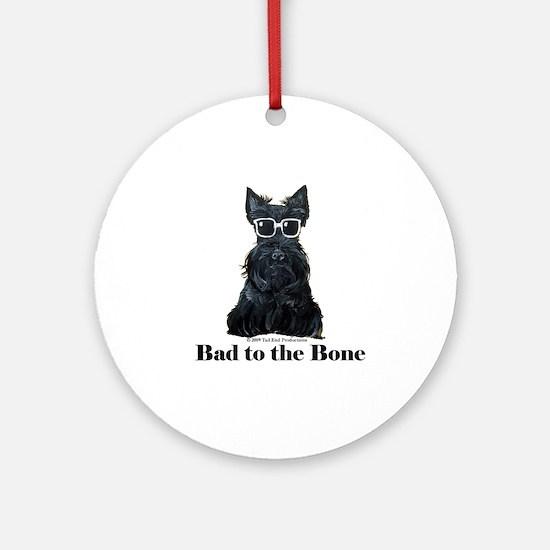 Scottie Bad to the Bone Ornament (Round)