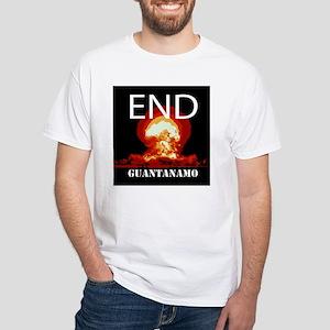 End Guantanamo White T-Shirt