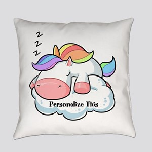 Cute Unicorn Dreams Personalized Everyday Pillow