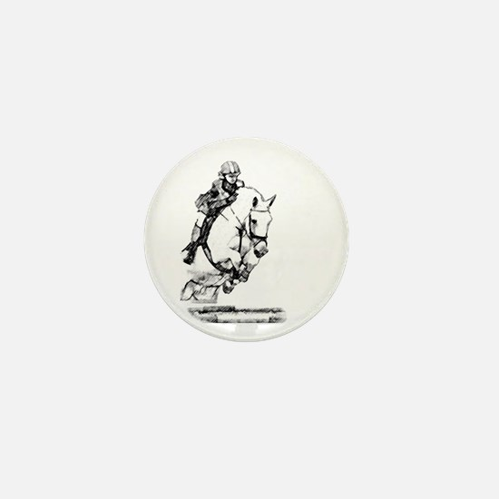 show jumping horse Mini Button