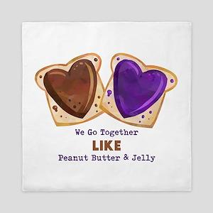 Peanut Butter and Jelly Queen Duvet