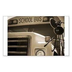 School Bus Rectangle Decal