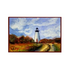 Cape Pogue Lighthouse Rectangle Magnet