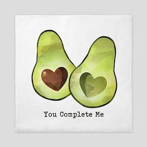 Avocado You Complete Me Queen Duvet