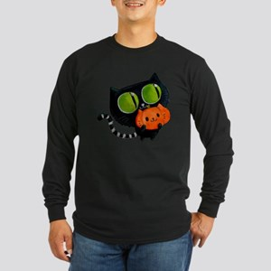 Cute Black Cat with pumpkin Long Sleeve T-Shirt