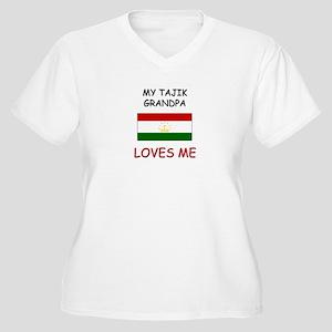 My Tajik Grandpa Loves Me Women's Plus Size V-Neck