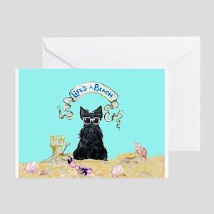 Scottish Terrier Summer Greeting Card
