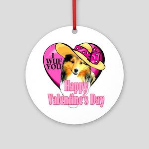 Shetland Sheepdog Valentines Ornament (Round)
