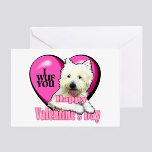 Westie Valentines Day Greeting Card