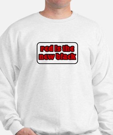 Red is the New Black Welsh Rugby Shirt Sweatshirt