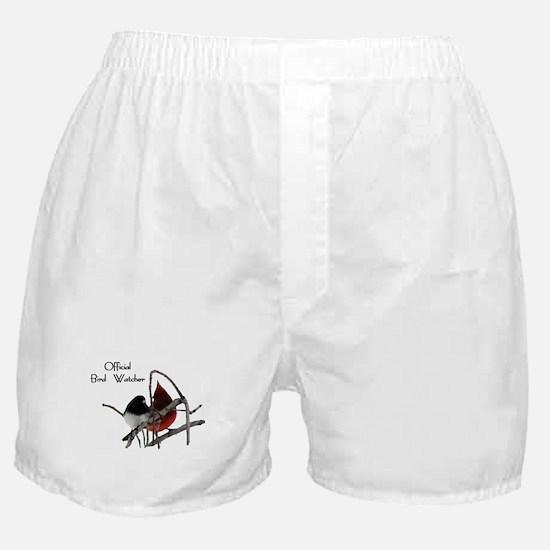Official Bird Watcher Boxer Shorts