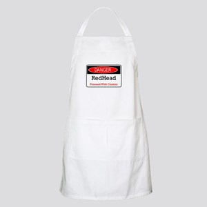 Danger! Red Head! BBQ Apron
