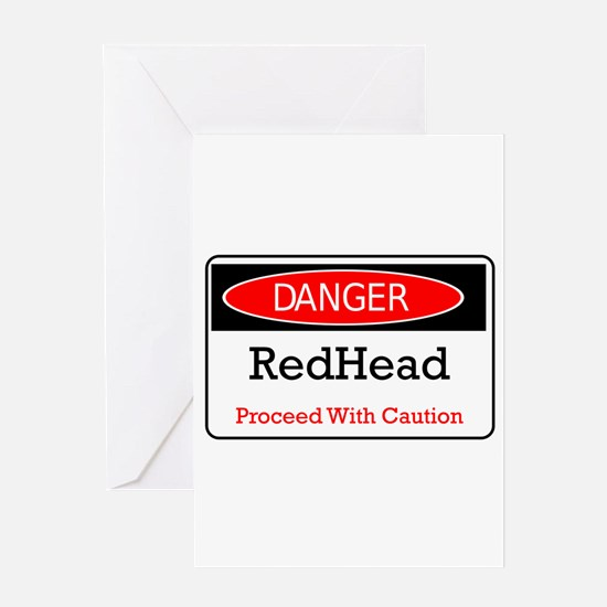 Danger! Red Head! Greeting Card