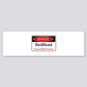 Danger! Red Head! Bumper Sticker