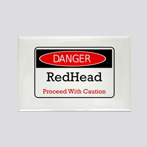 Danger! Red Head! Rectangle Magnet