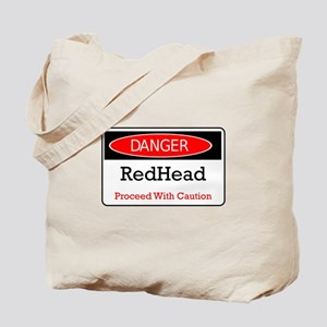 Danger! Red Head! Tote Bag