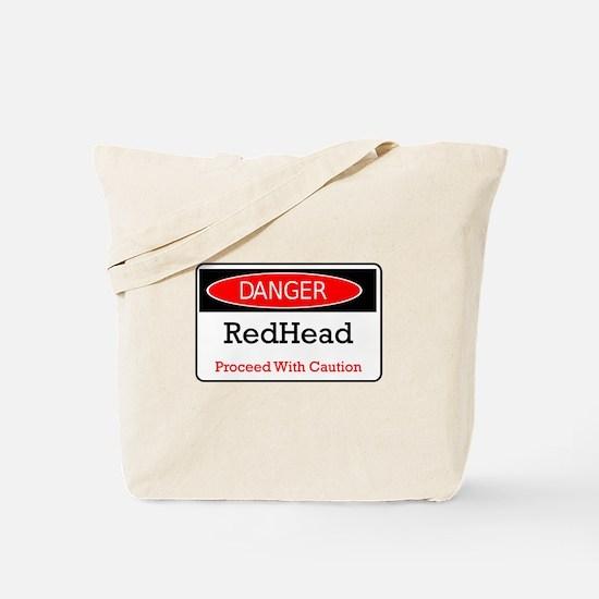 Danger! Red Head! Tote Bag