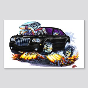 Chrysler 300 Black Car Rectangle Sticker