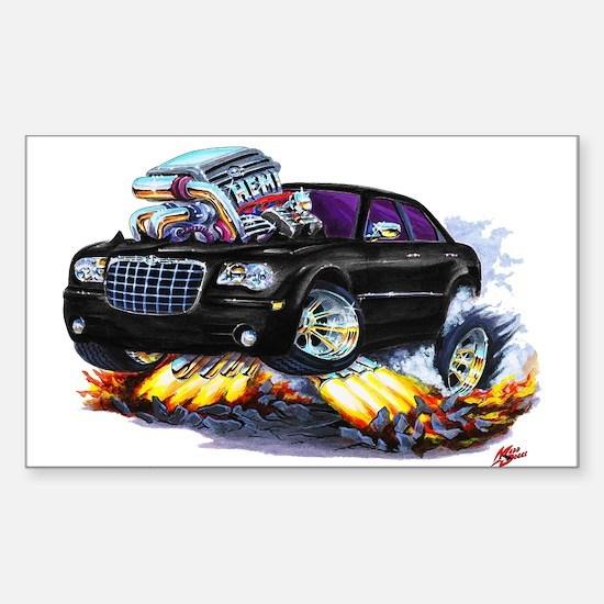 Chrysler 300 Black Car Rectangle Decal