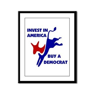 DEMOCRATS FOR SALE Framed Panel Print