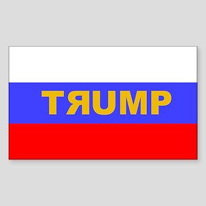 Donald Trump & Russian Flag Sticker