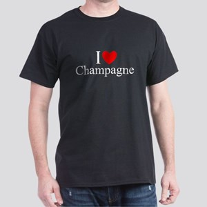 """I Love (Heart) Champagne"" Dark T-Shirt"