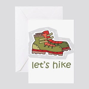Let's Hike Green Greeting Card
