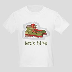 Let's Hike Green Kids Light T-Shirt