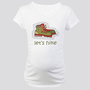 Let's Hike Green Maternity T-Shirt