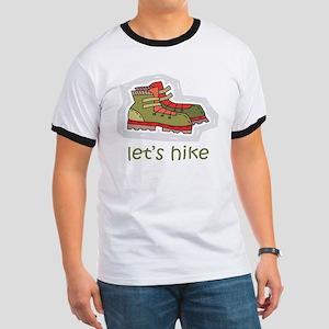 Let's Hike Green Ringer T