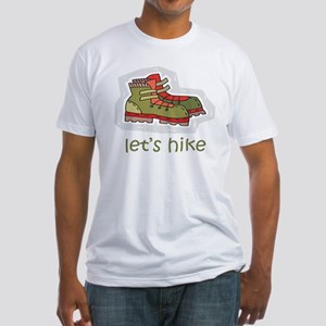 Let's Hike Green Fitted T-Shirt