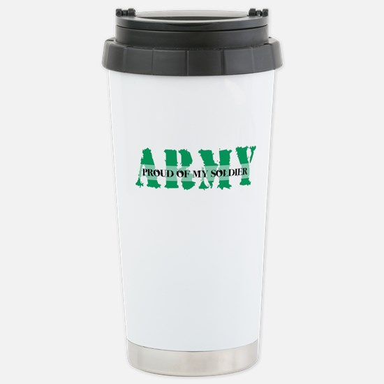 Proud Of My Soldier Stainless Steel Travel Mug