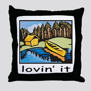 Lovin' It Throw Pillow