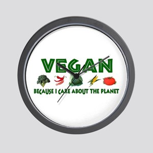 Vegans Care About Planet Wall Clock