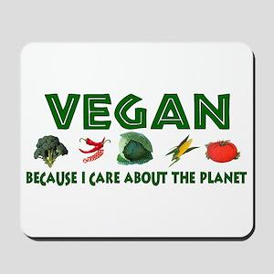 Vegans Care About Planet Mousepad
