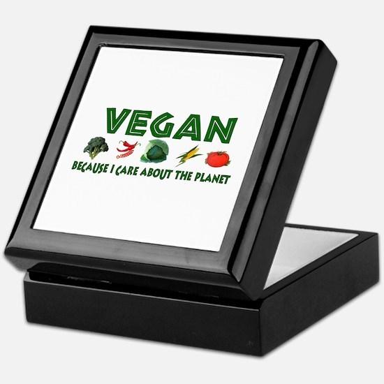 Vegans Care About Planet Keepsake Box