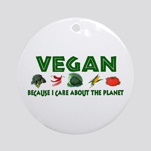 Vegans Care About Planet Ornament (Round)