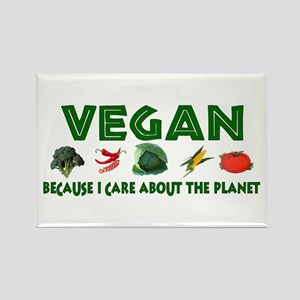Vegans Care About Planet Rectangle Magnet