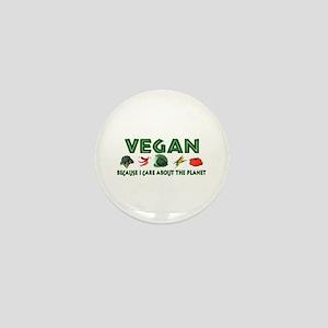 Vegans Care About Planet Mini Button