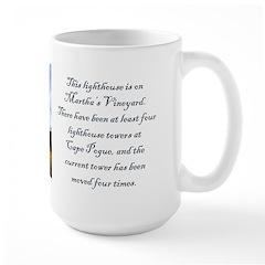 Cape Pogue Lighthouse Large Mug